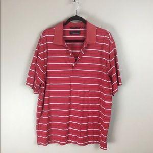 Greg Norman golf mens red polo shirt L